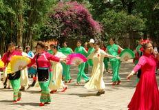 Kunming, China: Chinese Women Dance Concert Stock Photos