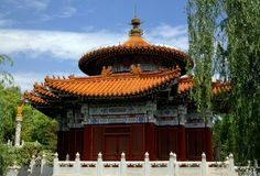Kunming, Chine : Le temple du Ciel au parc de Horti-expo Images libres de droits