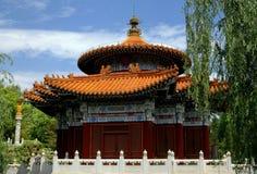 Kunming Kina: Templet av himmel på Horti-expon parkerar Royaltyfria Bilder