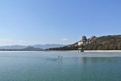 The Kunming Lake in the Summer Palace Royalty Free Stock Photo