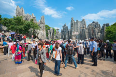 KUNMING - OCT 1: crowd of people travel during national holiday Royalty Free Stock Image