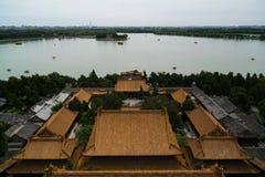 Kunming sjö, sommarslott, Peking, Kina fotografering för bildbyråer