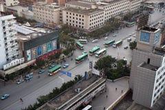 Kunming-Stadt-Hauptverkehrszeit Stockfotos