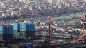 Kunming-Stadtstadtr?nde im Bau stock footage