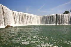 Kunming Waterfall Park in Kunming, China became the largest waterfall park in Asia. The Kunming Waterfall Park in Kunming, China became the largest waterfall royalty free stock photography