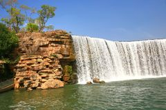 Kunming Waterfall Park in Kunming, China became the largest waterfall park in Asia. The Kunming Waterfall Park in Kunming, China became the largest waterfall stock image