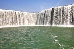 Kunming Waterfall Park in Kunming, China became the largest waterfall park in Asia. The Kunming Waterfall Park in Kunming, China became the largest waterfall royalty free stock photo