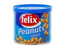 Kunna av Felix Salted Peanuts arkivbilder
