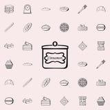 kunna av kanelbrun symbol Bagerit shoppar den universella uppsättningen för symboler för rengöringsduk och mobil stock illustrationer