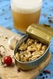 Kunna av kryddade musslor royaltyfri foto