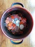 Kunna av mynt arkivfoton