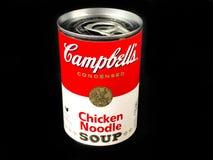 Kunna av soppa för nudeln för höna för Campbell ` s royaltyfri fotografi