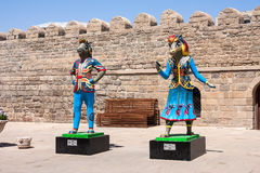 19 kunnen 2017 Baku, Azerbeidzjan Amulet IV Islamitische solidariteitsspelen - Karabakh-renpaarden Inje en Dzhasur Stock Foto