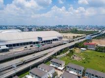 26 kunnen 2018, Bangkok:: luchtmening van snelweg in Bangkok Stock Foto's