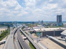 26 kunnen 2018, Bangkok:: luchtmening van snelweg in Bangkok Royalty-vrije Stock Foto's