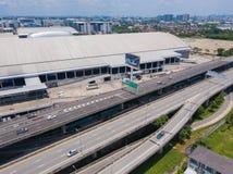 26 kunnen 2018, Bangkok:: luchtmening van snelweg in Bangkok Stock Afbeelding