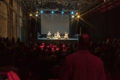 12 kunnen 2018, dakhabrakha van Florence, Italië het Oekraïense volkskwartet solo overlegt Stock Foto