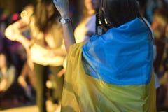 12 kunnen 2018, dakhabrakha van Florence, Italië het Oekraïense volkskwartet solo overlegt Stock Foto's