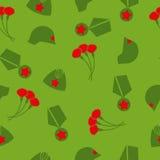 9 kunnen De dag van de overwinning Naadloos patroon Achtergrond van kruidnagels, GLB, Royalty-vrije Stock Afbeeldingen
