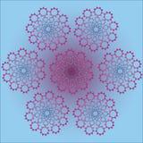 Kunnen de neon Vectorvormen, als patroon worden gebruikt stock illustratie