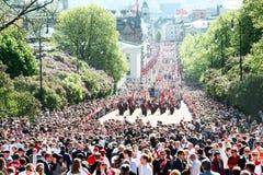17 kunnen de parade van Oslo Noorwegen op straat Stock Foto's