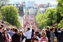 17 kunnen de poort van Oslo Noorwegen kalr Johan Stock Foto