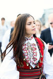 17 kunnen het meisje van Oslo Noorwegen op parade in kleding Royalty-vrije Stock Fotografie