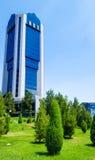 22 kunnen 2017, Oezbekistan, Tashkent, Nationale bank van buitenlandse economische activiteiten van Oezbekistan Royalty-vrije Stock Afbeeldingen