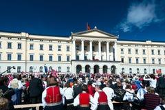 17 kunnen Oslo Noorwegen Slottsparken Royalty-vrije Stock Afbeeldingen