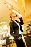 Kunnen wij in restaurant samenkomen? Stock Foto