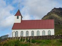Kunoy village. Church.