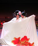"""Kunqu Opera. BEIJING – FEBRUARY 15: Actors of the Northern Kunqu Opera Troupe perform the famous love comedy """"Romance of the Western Chamber"""" in the second Stock Image"""