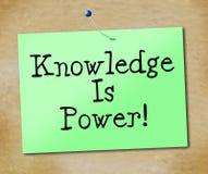 Kunskap är maktshower som universitetet utbildar och lär Royaltyfri Foto
