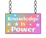 Kunskap är maktskylten Royaltyfria Bilder