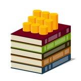 Kunskap och pengar Arkivbild