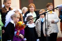 Kunskapsdag i Ryssland Arkivbild