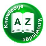 Kunskapsemblemshower lär handledning och uppfattning Arkivfoton
