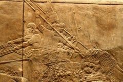 Kunst 2 van Assyrian van Acient Stock Foto's