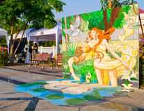 Kunst 3D auf der Straße (23. März-7. April 201 Stockfotografie