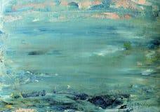 Kunst abstracte blauwe achtergrond Royalty-vrije Stock Afbeeldingen