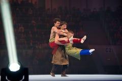 Kunst acrobatisch aantal royalty-vrije stock foto's