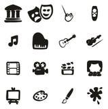 Kunst & Art Equipment Icons Freehand Fill royalty-vrije illustratie