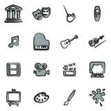 Kunst & Art Equipment Icons Freehand 2 Kleur vector illustratie