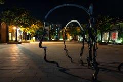 Kunst auf den Straßen von Kaohsiung nachts stockfoto