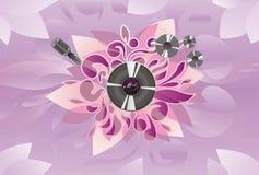 Kunst; Auszug; Audio; Mikrofon; Platte Lizenzfreies Stockbild