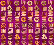 Kunst betegelde achtergrond. Abstracte beige bloemen geometrische Naadloze Textuur vector illustratie