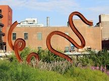 Kunst bij het Hoge Lijnpark Royalty-vrije Stock Foto's