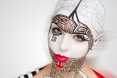 Kunst bilden Labyrinthpuzzlespiel Stockfotos