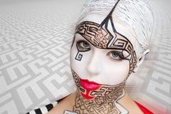Kunst bilden Labyrinthpuzzlespiel Lizenzfreie Stockfotografie
