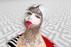 Kunst bilden Labyrinthpuzzlespiel Stockfoto